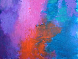 Pink, Orange and Blue Painting