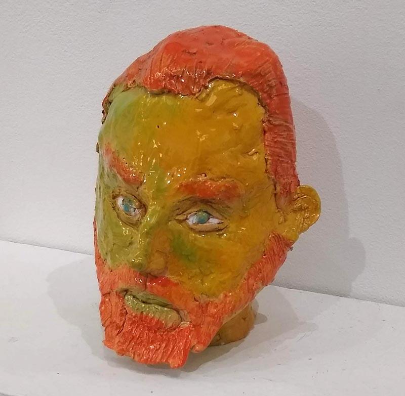 Ceramic head of Vincent van Gogh