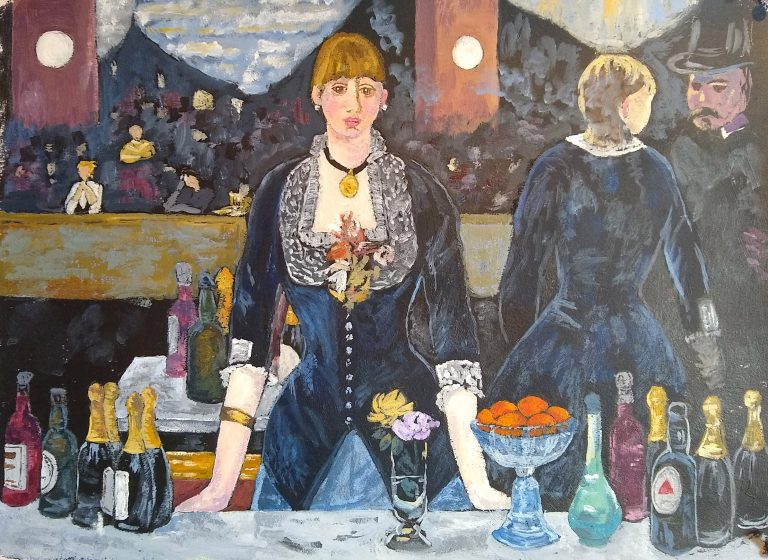A Bar at the Folies-Bergère painting