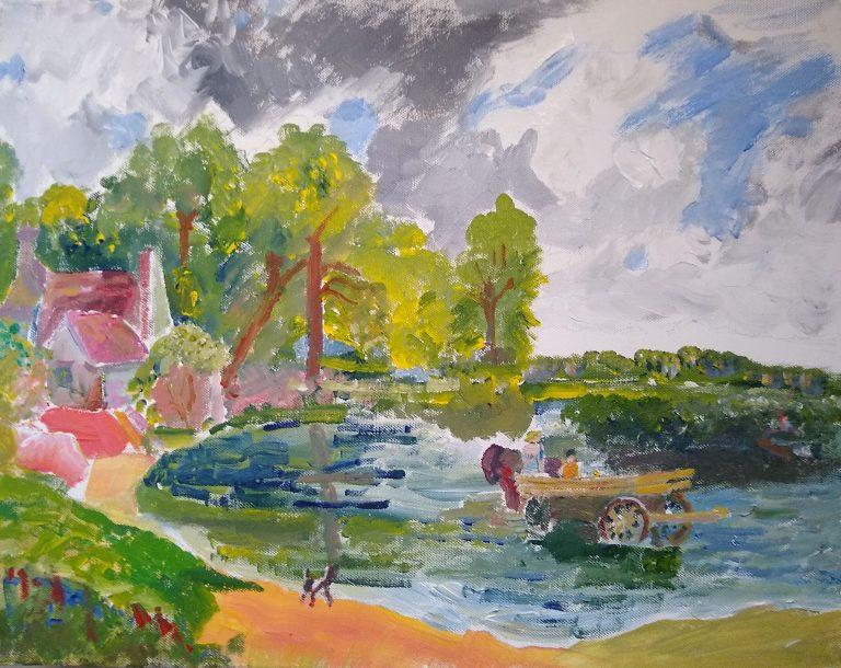 The Hay Wain painting